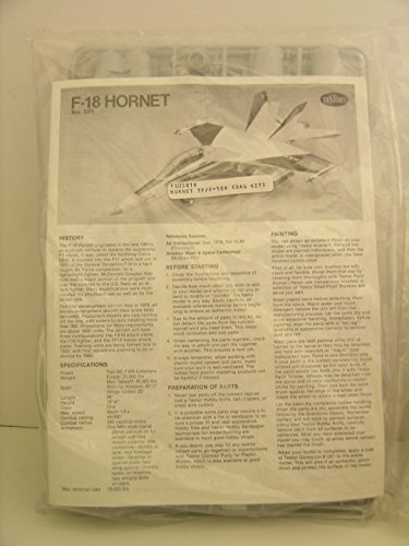 Hornet 18a (Testor's Models-1/48 Scale F-18A Hornet Jet Fighter-Plastic Model Kit)