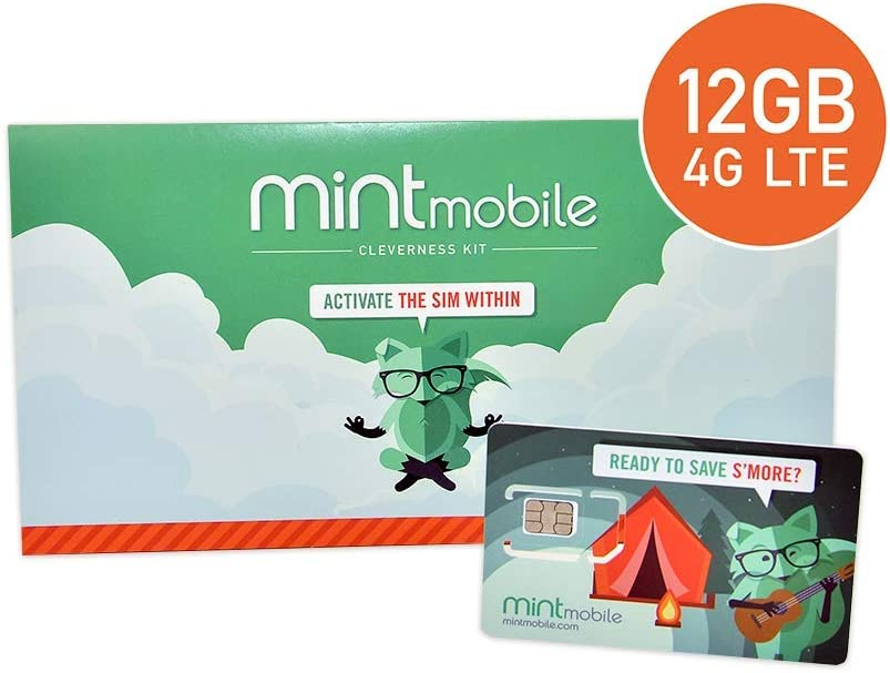 $25/Month Mint Mobile Wireless Plan | 12GB of 4G LTE Data + Unlimited Talk & Text for 3 Months (3-in-1 GSM SIM Card) 513wC3iSYCL
