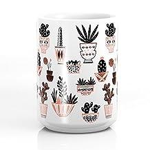 Society6 Mid-Century Modern Cacti Mug 15 oz
