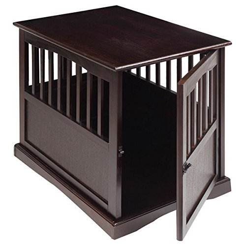Wooden Furniture Pet Crate, Color Espresso (Large) by Casual Home