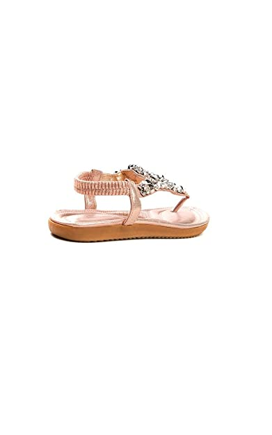 17ba96b6a93c85 Ikrush Womens Monika Clustered Sequin Embellished Sandals Rose Gold ...