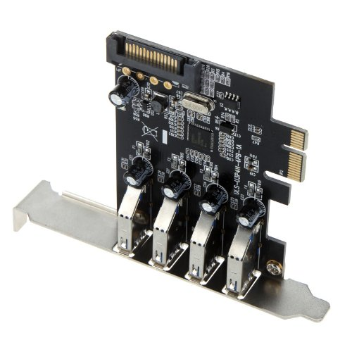 Kingzer 5Gbps PCI-E PCI Express Controller Card 15 pin SATA Power Connector Low Profile from KINGZER