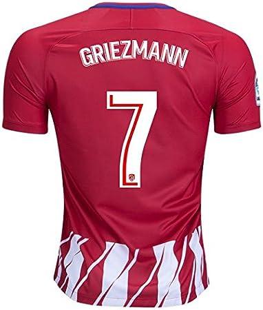 S_C_Z Griezmann 7 Atletico Madrid Home 17/18 - Camiseta de fútbol para hombre (talla L), color rojo: Amazon.es: Hogar