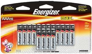 Energizer E92BP-16 AAA Alkaline Batteries 16 Batteries per Package