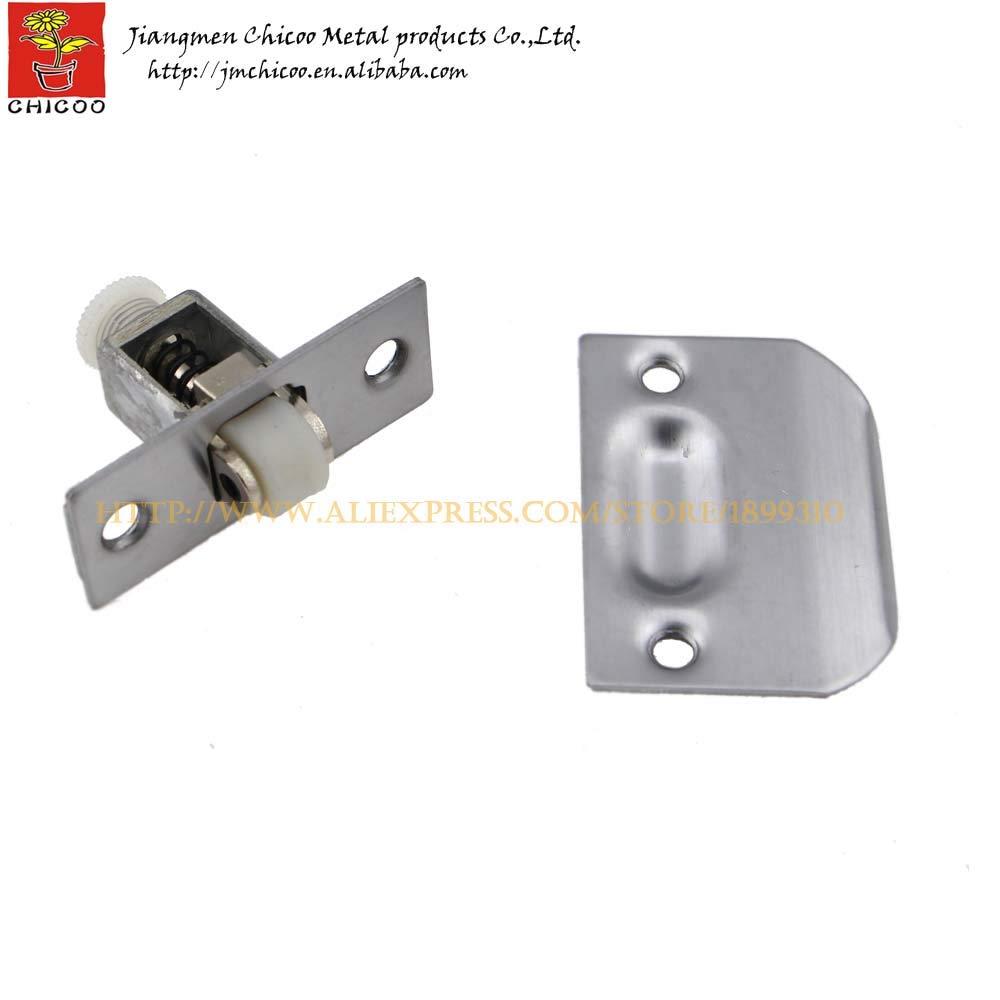 wholesale 10Pieces Stainless steel + zinc alloy +plastic door ball catch,closet door ball catch,catches cabinet