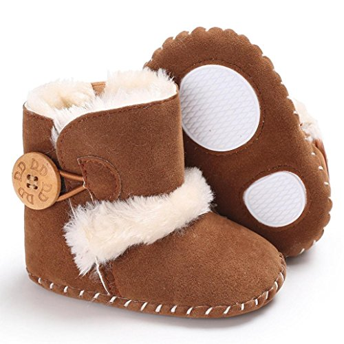 Clode® Nette Junge Mädchen Baby Weiche Sohle Schneeschuhe Weiche Krippe Schuhe Kleinkind Stiefel Braun