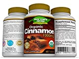 Ceylon Cinnamon by Doctor's Herb, Organic Cinnamon Supplement, 1000mg Per Serving, 60 tablets - Healthy Blood Sugar Support, Weight Loss, Joint Care, Non-GMO, Naturally Gluten-Free