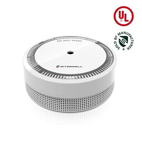 SITERWELL Mini Smoke Detector and Battery Operated Smoke and ...