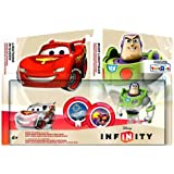Disney Infinity TRU Exclusive Race to Space Pack with Crystal Lightning McQueen, Buzz Lightyear with C.H.R.O.M.E. Damage Increaser and Zurg's Wrath Power Discs