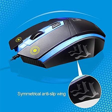 DUANDETAO ZGB G21 1600 DPI Professional Wired Colorful Backlight Mechanical Feel Suspension Keyboard Optical Mouse Kit for Laptop Black PC Color : Black