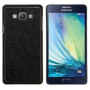 "Be-Star Único Patrón Plástico Duro Fundas Cover Cubre Hard Case Cover Para Samsung Galaxy A7 / SM-A700 ( Mapa Geografía Océano viento Tierra Planeta Arte"" )"