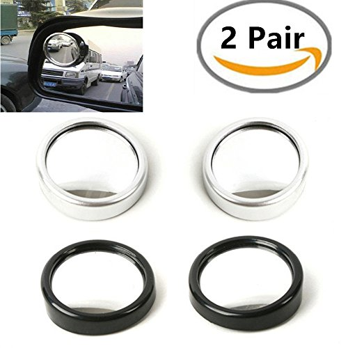 1 Pair 360 Circular Wide View Adjustable Car Automobile Blind Spot Mirror Rearview Mirror Side Mirror Reflector Viewfinder Auxiliary Parking (Spot Viewfinder)