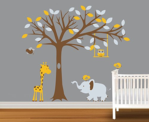 Lovely Kids Rooms Wall Decor Tree Forest Tree Wall Decals An
