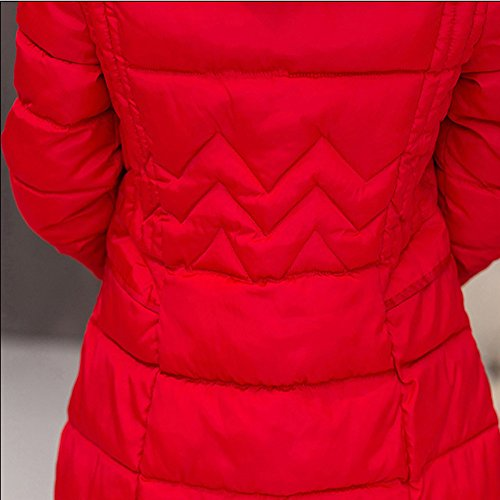 Winter Quilted Womens Overcoat Hooded Thick Warm Down Red Jackets DianShao Coats qUHxSgwZw
