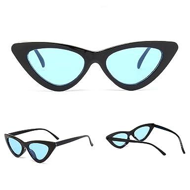 4039e3663cc4 OVERDOSE Petites Lunettes De Soleil en Yeux De Chat Pointues, Femme Intégré  UV Mode Sunglasses (A)  Amazon.fr  Vêtements et accessoires