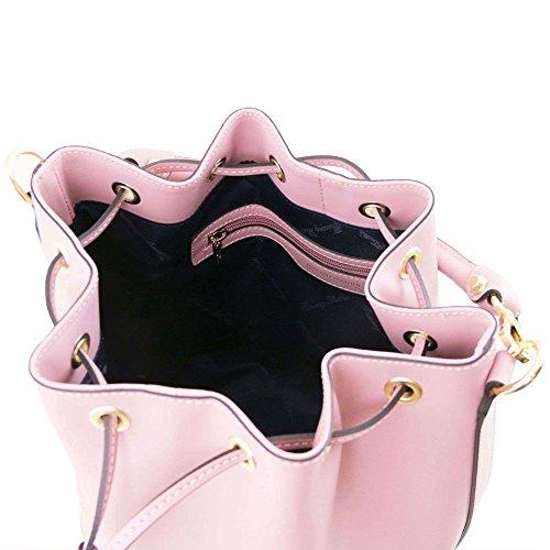Tuscany Leather - Vittoria - Sac secchiello pour femme en cuir Ruga - Lilas