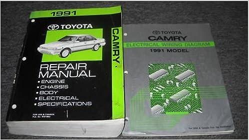 1991 toyota camry service repair shop manual set oem w wiring diagram book:  toyota: amazon com: books