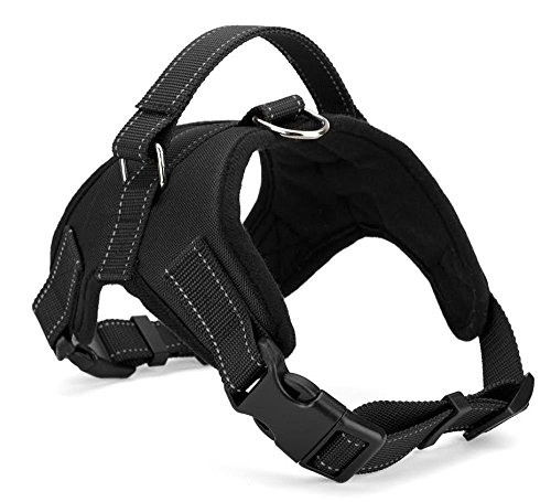 Xanday No Pull Dog Vest Harness, Reflective Dog Body Padded Vest with Handle, Adjustable Dog Walking Harness Comfort Control for Small Medium Large Dogs (XS, Black)