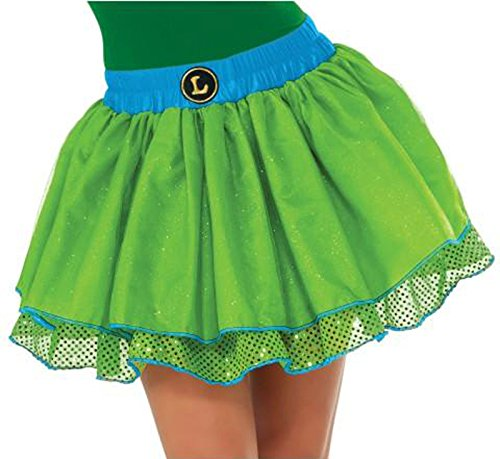 Teenage Girl Diy Costumes (Women's Teenage Mutant Ninja Turtles Leonardo Sequin Tutu Skirt Costume Accessory (One Size Adult (up to size 12)))