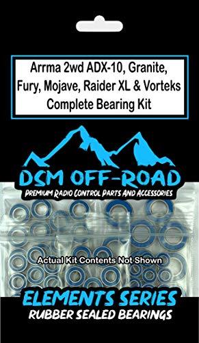 Arrma ADX-10 Granite Fury Mojave Raider XL Vorteks Bearing Kit Set (14 Bearings)