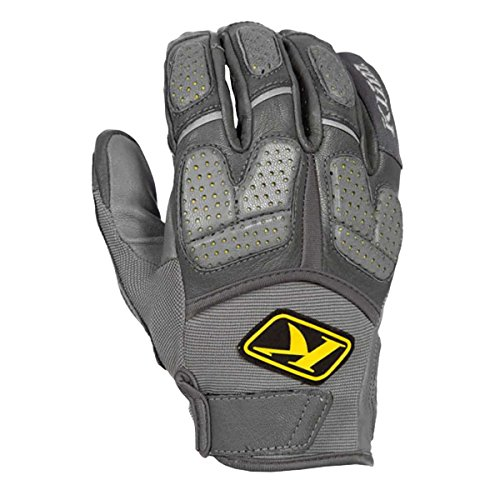 (Klim Dakar Pro Men's MotoX Motorcycle Gloves - Gray/Large)