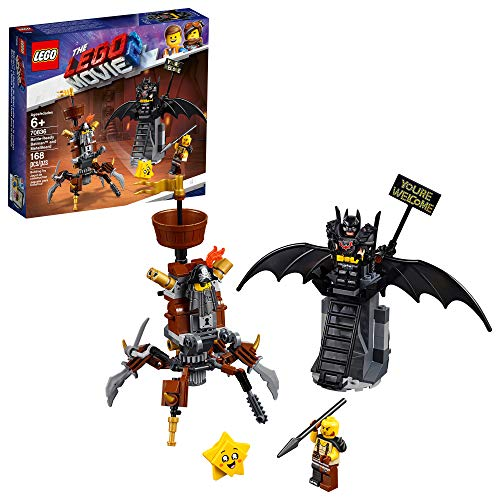 LEGO THE LEGO MOVIE 2 Battle-Ready Batman and MetalBeard 70836 Building Kit, Superhero and Pirate Mech Toy, New 2019 (168 Pieces)]()