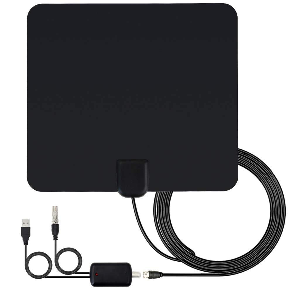 Delleu Amplificador HD Antena de TV Digital Largo 65-80 Millas Alcance Soporte 4K 1080dp Amplificador de señal de Interior: Amazon.es: Electrónica