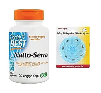 Mejor suplemento nutricional de Natto-Serra del doctor, cuenta 90