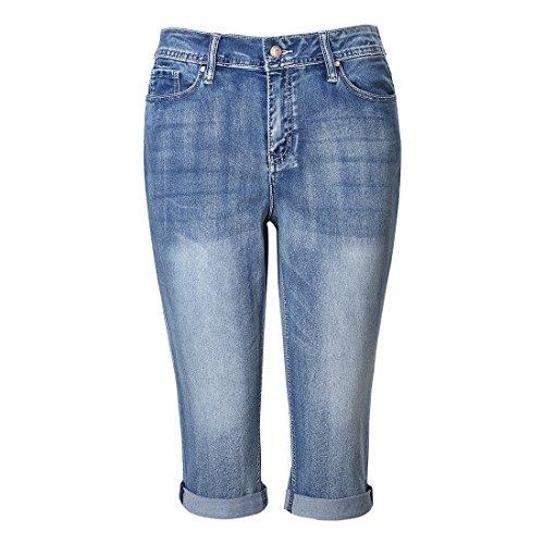 Waist Capri Jeans - 2