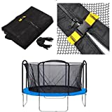 Homdox 12ft 4 Arch 8 Pole Replacement Trampoline Enclosure Net Fence Replacement Safety Net, Round
