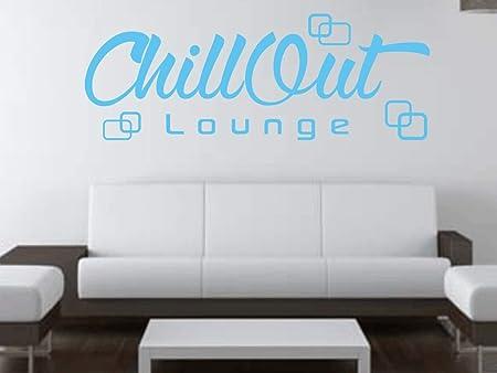 X Modeling Wandtattoo Chill Out Retro Lounge Wohnzimmer Schlafzimmer Spruche M2115 Lichtblau 180cm X 65cm Amazon De Kuche Haushalt