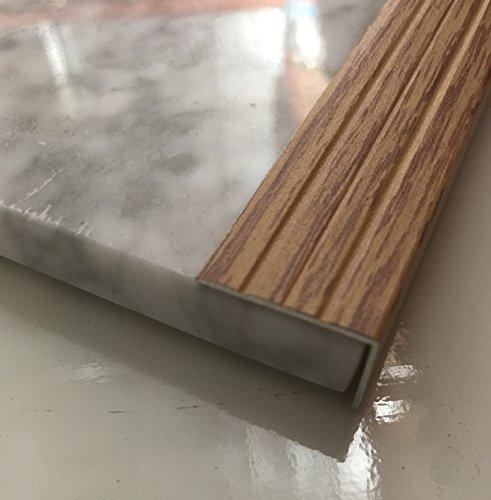 Stair Noses European Anodized Aluminum and Angle Edges Profile (84, Natural (Aluminum Trim Natural Vinyl)