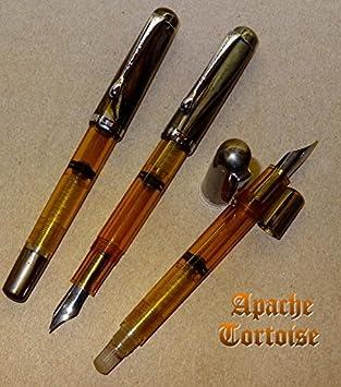 Noodlers Ink Konrad Flex Nib Ivory Darkness Piston Fill Fountain Pen