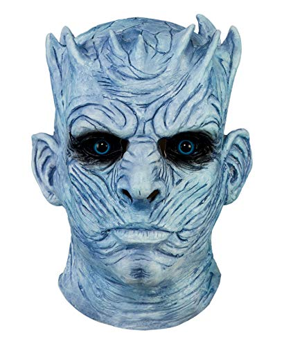 (Night's King Mask Game of Thrones Night King White Walker Men's Full Head Helmet Halloween Costumes Scary Mask for Men)