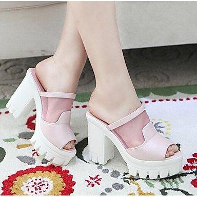 s azul rosa confort Las 5 PinkUS5 3 informal sandalias 039 verano CN35 5 4inBlushing UE36 4A UK3 Confort 4 blanco mujeres PU rubor qnECp
