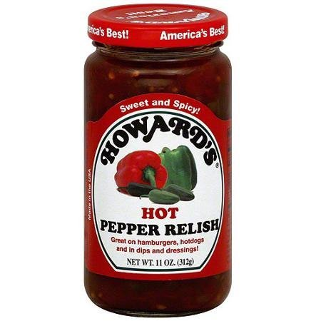 (2 pack - Howard's Hot Pepper Relish, 11 ounces per jar)