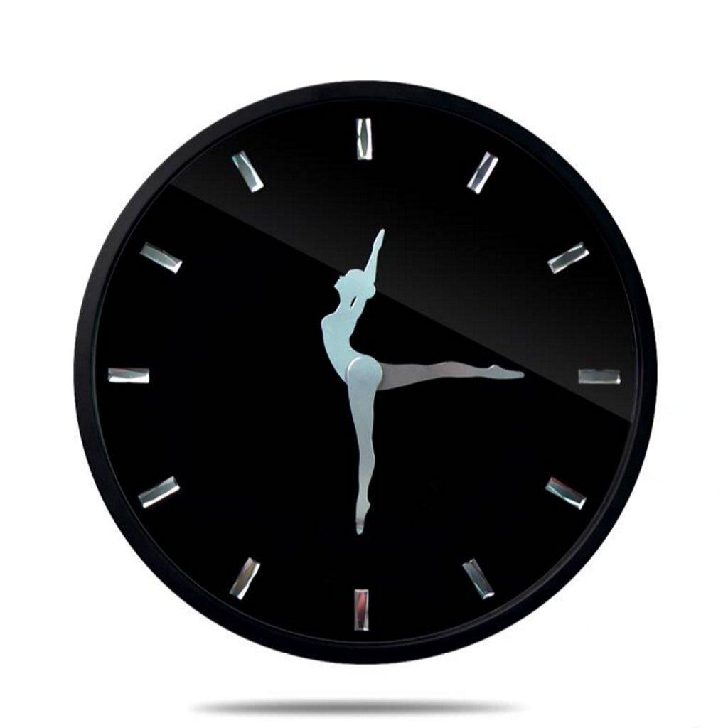 人格の壁時計を創造的な現代的なミニマルウォールクロック ( 色 : ブラック , サイズ さいず : 12inches ) B07CG4XCJK 12inches|ブラック ブラック 12inches