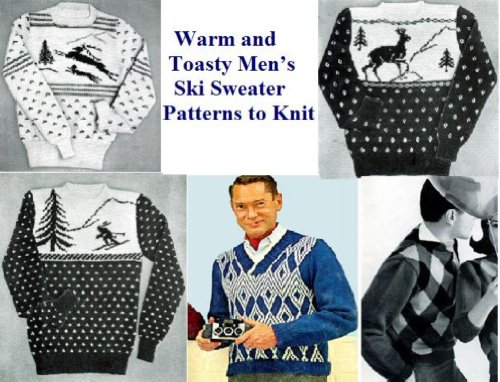 Amazon Warm And Toasty Mens Ski Sweater Patterns To Knit Ebook