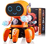 Marsjoy Musical Baby Toys Dancing Walking Robot for Boys & Girls Kids or Toddlers Aged 1 2 3 4 5 with Music and LED Colorful Flashing Lights Dancing Singing