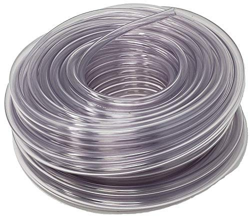 Sealproof Unreinforced PVC Clear Vinyl Tubing, Food Grade, 1/2-Inch ID x 5/8-Inch OD, 100 FT
