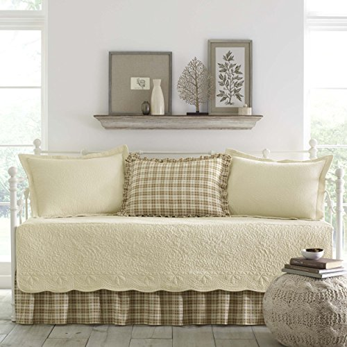 Stone Cottage Trellis Collection 5-Piece Daybed Set, Ivory