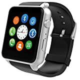 SuperWatch GT88 Smart Watch Bluetooth NFC Connectivity Sports Watch with Heart Rate Monitor,Touch Screen and Magnetic Charging for Android Samsung HTC/Apple iOS (Silver)
