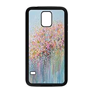 Sexyass Art Flower Painting Samsung Galaxy S5 Cases, Girl Protective Case for Samsung Galaxy S5 {Black}