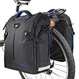 BV Bike Panniers Bags (Pair), Large Capacity, 14 L (each pannier), Black...