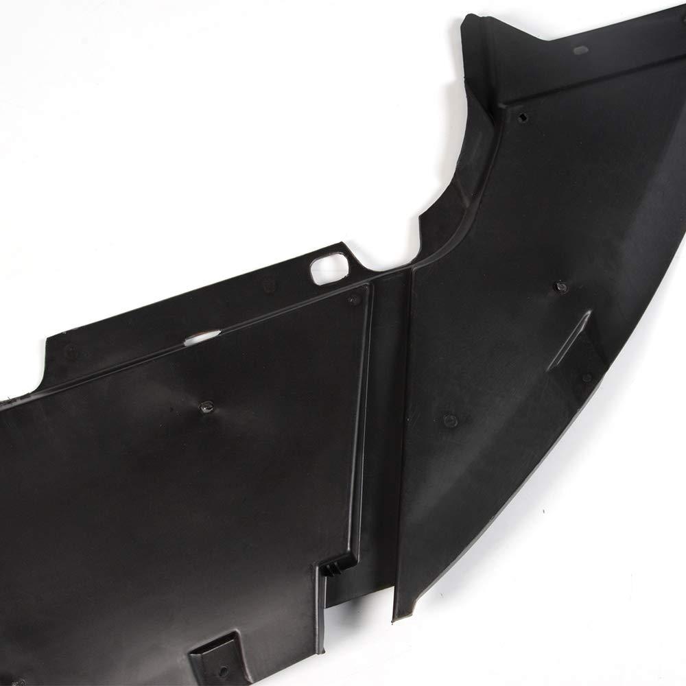 VRracing Front Engine Guard Splash Shield for Ford Focus Sedan//Hatchback 2012 2013 2014 Compatible Air Deflector FO1228119 CP9Z8310A Black