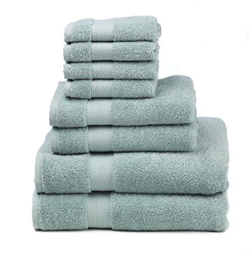 Egg Bath - Premium 100% Cotton 8-Piece Towel Set (2 Bath Towels 30