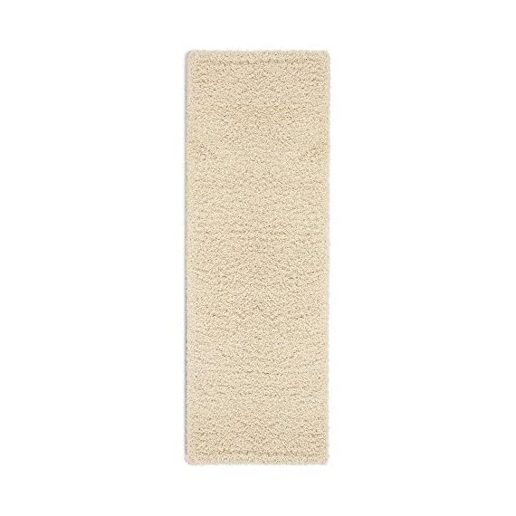 """Sweet Home Stores Cozy Shag Collection Cream Solid Shag Rug (2'7""""X7'6"""") Contemporary Living and Bedroom Soft Shaggy Runner Rug - Size: 2'7""""X7'6"""" Color: Cream 100% Heat-set polypropylene machine woven for long-lasting quality - runner-rugs, entryway-furniture-decor, entryway-laundry-room - 513wKyKGQuL. SS570  -"""