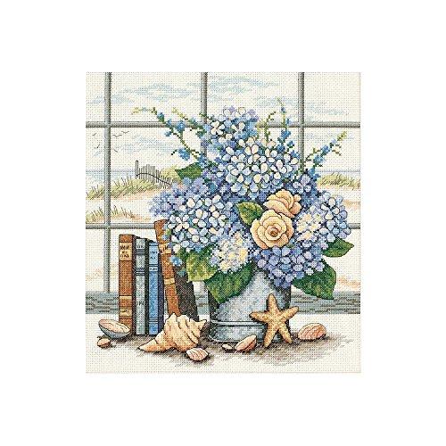 (Hydrangeas & Shells Counted Cross Stitch Kit-11x12 14 Count)