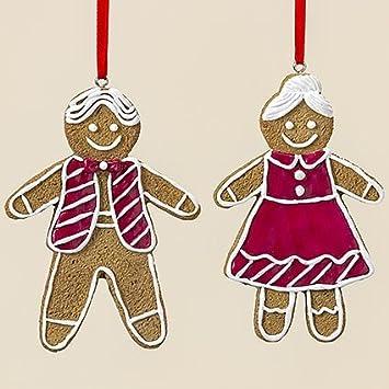 Weihnachtsdeko Lebkuchenmann.2er Set Hänger Lebkuchenfrau Lebkuchenmann Christbaumschmuck