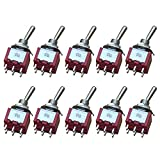 Etopars 10 X On/Off/On Mini Miniature Toggle Switch Dashboard DPDT 6Pin